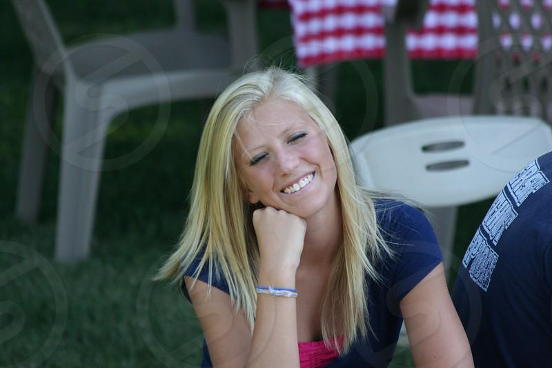 Jana at July 4th picnic photo