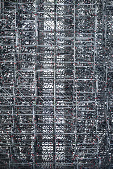 The cage. Part of metal construction steel framework scaffolds photo