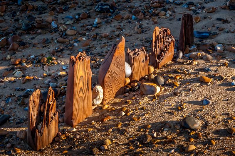 Reculver derelict sea defences photo