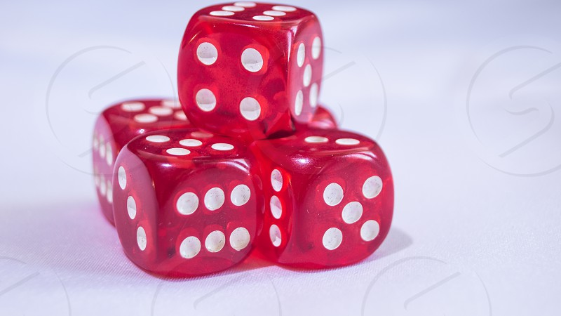 dice red gambling cassino game chance photo