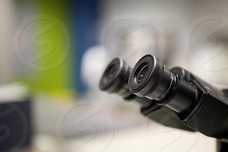 black microscope photo