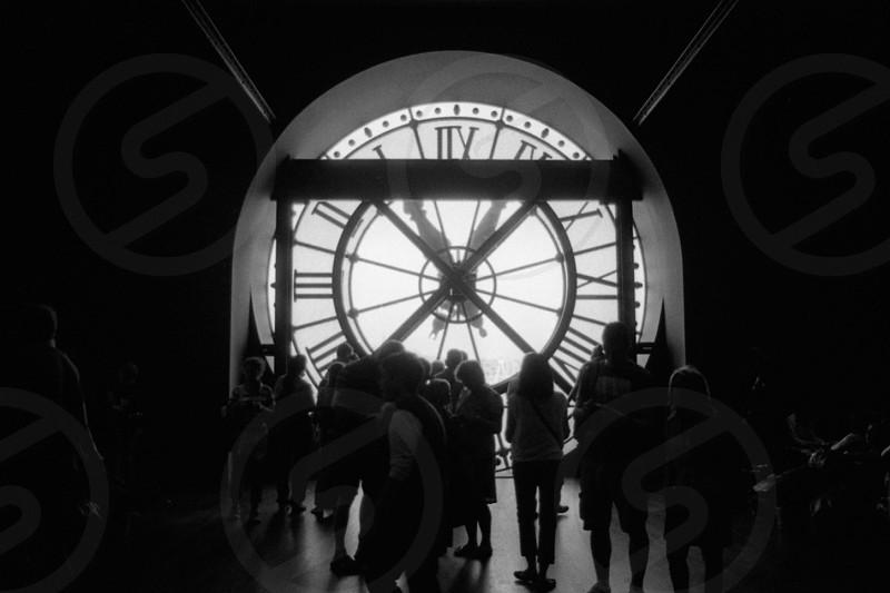 Clock tower analog clock photo