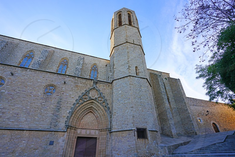 Monastery of Pedralbes in Barcelona Spain photo
