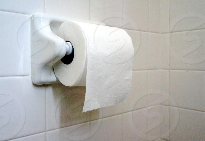 white bathroom tissue paper photo