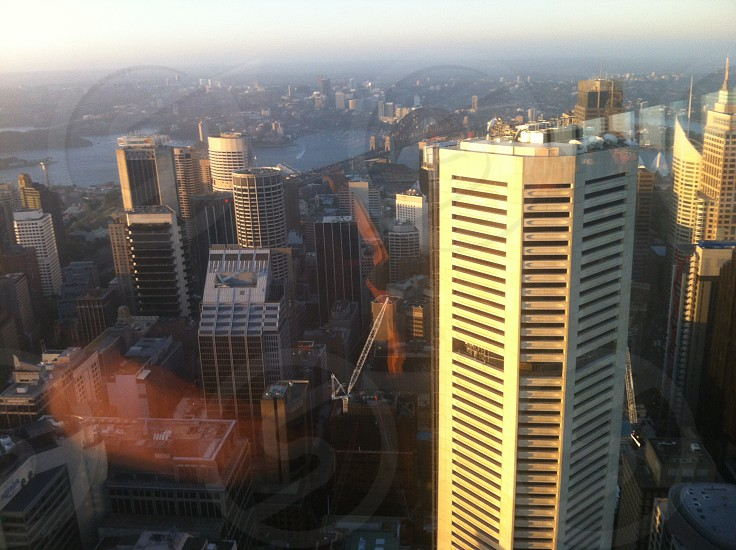 top view of city buildings at day photo