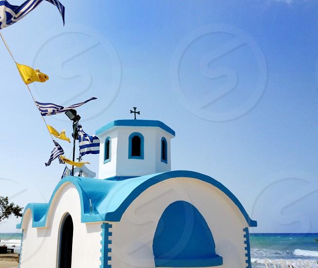 Greek Church on the beach photo
