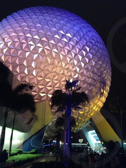 Epcot at night before the rains  photo