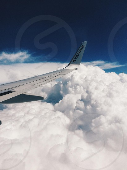 plane and clouds photo