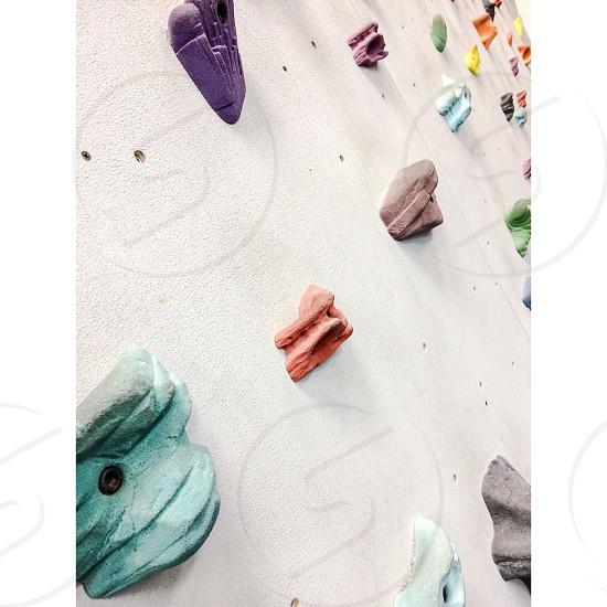Rock climbing. photo