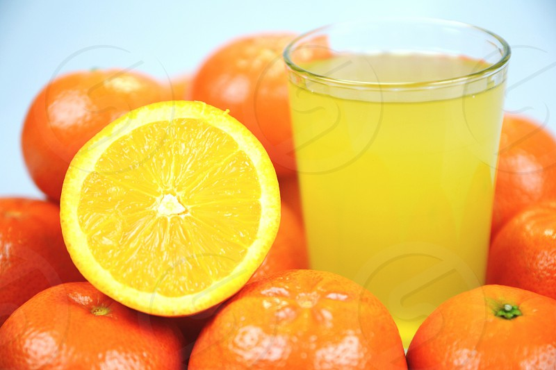orange slice white drink juice tase health summer health flu photo