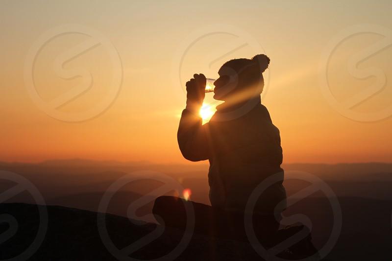 Sunset Hiking Outdoors Vino Mountains photo