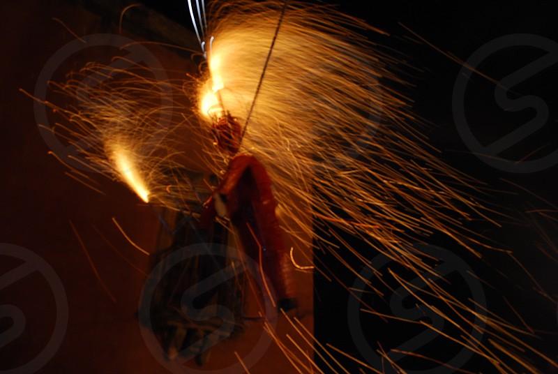 Burning Chamuco. photo