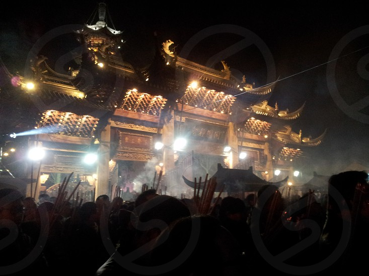 Longhua Temple (Shanghai) during New Years Eve photo