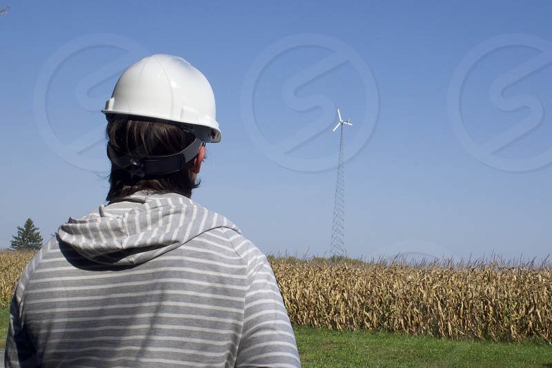 Industrial: Green Energy Wind Farm Turbine Engineer Technician      photo