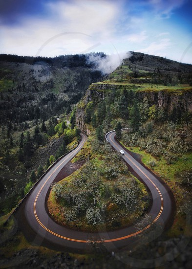 Oregon road fog photo