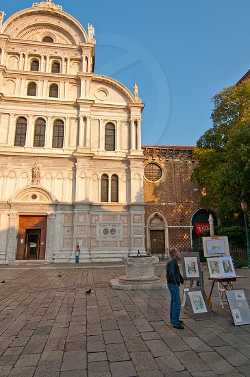 Venice Italy San Zaccaria church front view  photo
