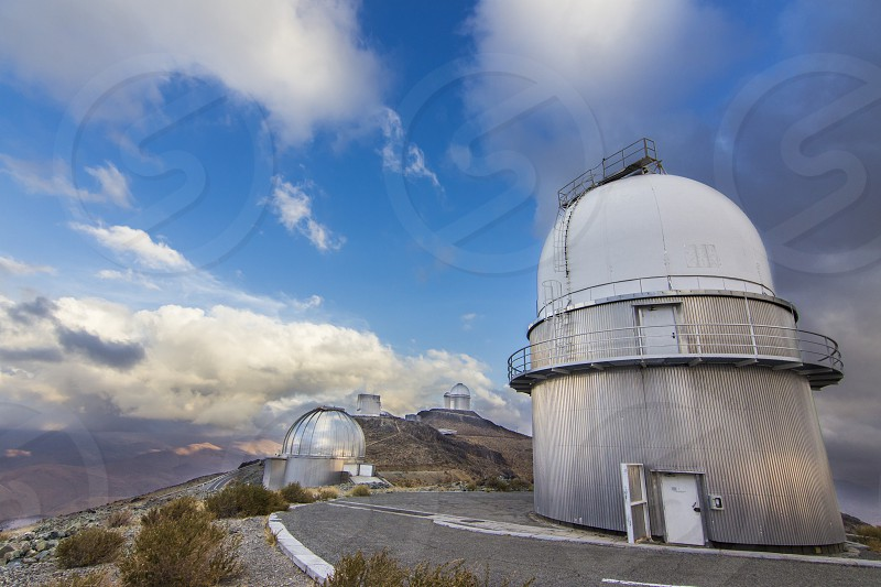 The astronomical observatory of La Silla North Chile. One of the first observatories to see planets in other stars. Located at Atacama Desert.  photo