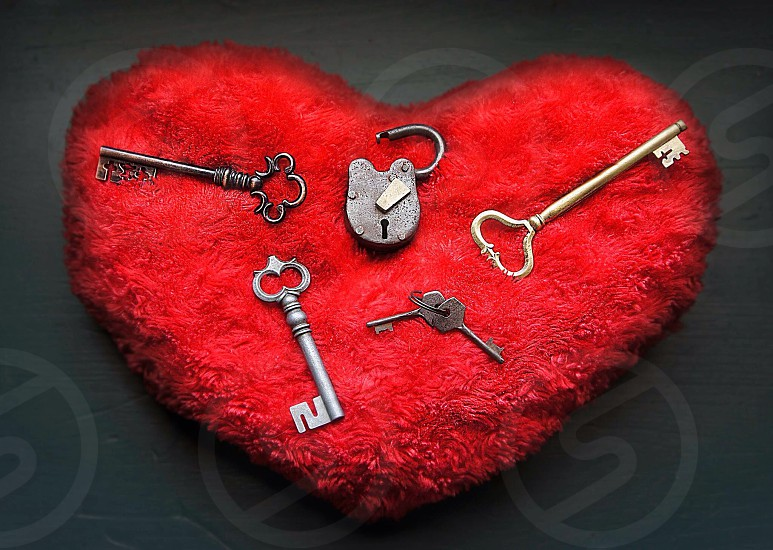 Love locks keys photo