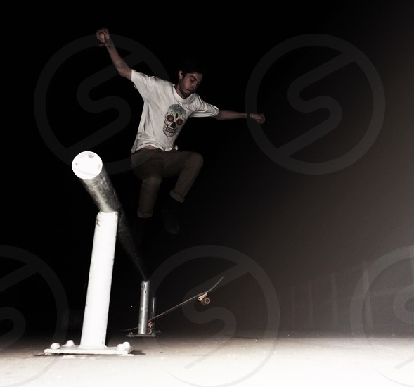Skating in the dark photo