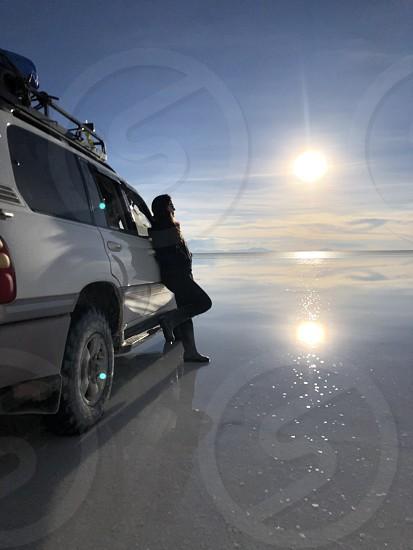 Uyuni Bolívia sunset roadtrip photo