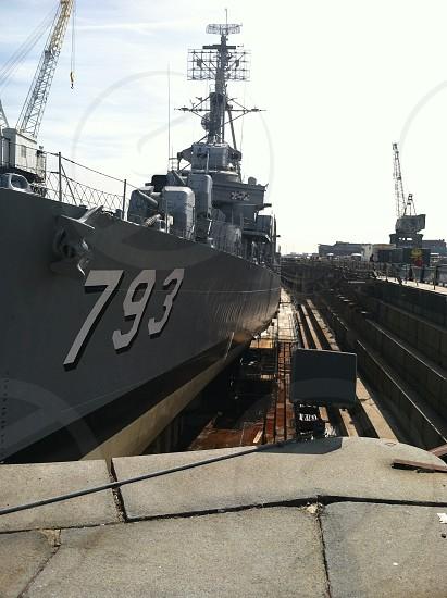 Battleship in Boston  photo