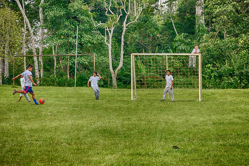 Young Boys Playing Soccer photo