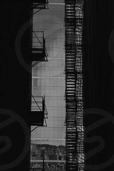 B&w black and white texture Chicago alley photo