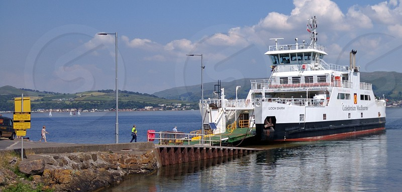 loch shira at cumbrae ferry terminal photo