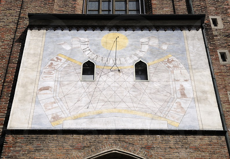 "Sundial Frauenkirche ""Cathedral of Our Dear Lady"" Munich Germany photo"