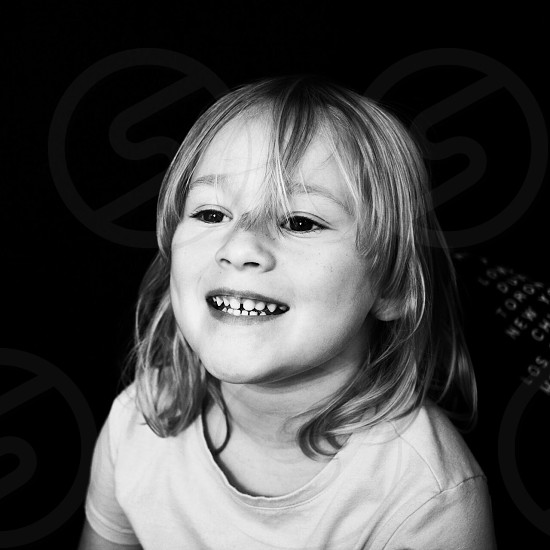 Toddler Black and White photo