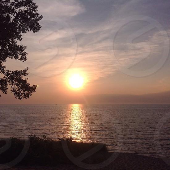 Lake Michigan August Sunset photo
