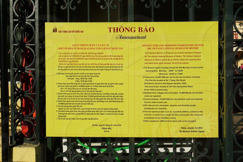 National Museum of Vietnamese History - Hanoi Vietnam photo
