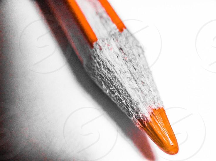 orange color pencil photo