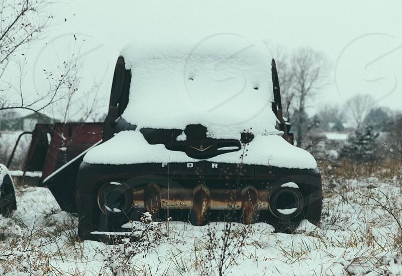 black ford sports car photo