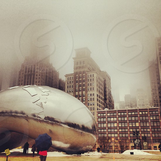 """""""Mist-ify"""" The Bean sits frozen during a cold Chicago winter. photo"""