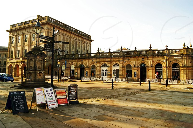 UK.ENGLAND. BUXTON Derbyshire. The Mineral Spa Baths building which now houses a shopping centre. photo