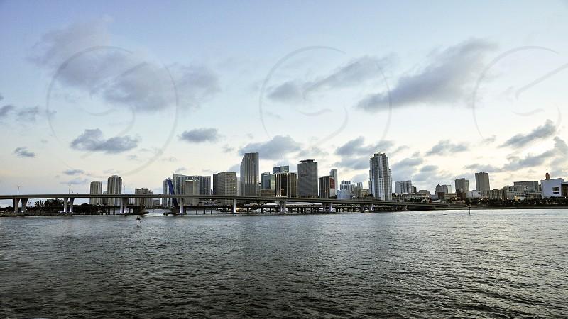Miami Florida Panoramic City Cityscape photo