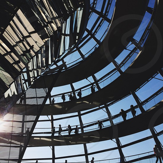 Reichstag dome Berlin Germany parliament bundestag architecture photo