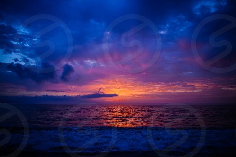 Sunset at bahia de banderas photo