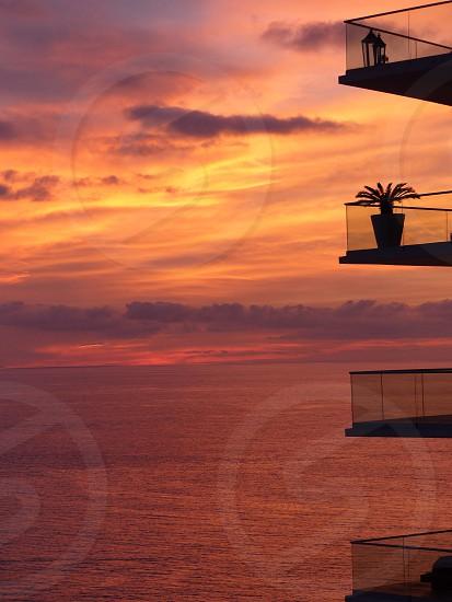 Sunset on a warm Puerto Vallarta Mexico evening. photo