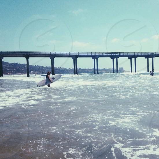 Surfing in La Jolla photo