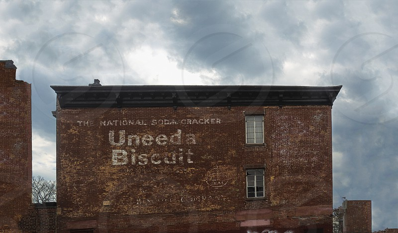 An old sign advertising an old long dead manufacturer of kosher soda crackers/biscuits in Brooklyn. photo