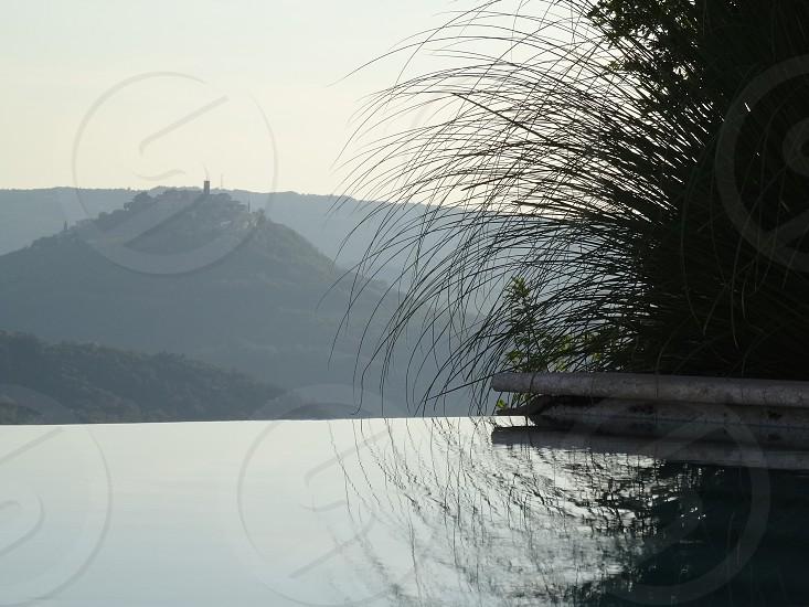 Infinity pool towards Motovun Croatia photo