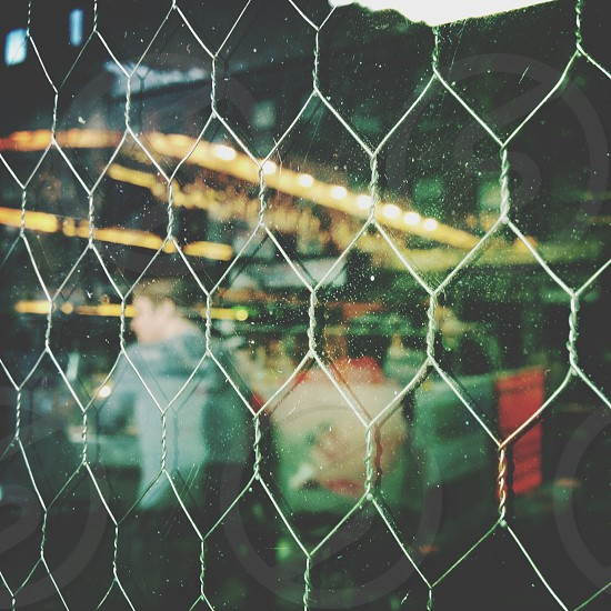 white chain link fence  photo
