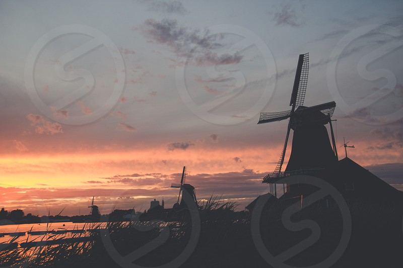 Zaanse Schanshollandnetherlandstraveloutdoors landscapes europe vacation nature traditional sunset dutch vacation photo