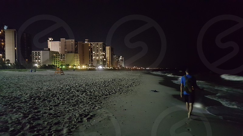 Myrtle Beach VA - night time exploring. photo