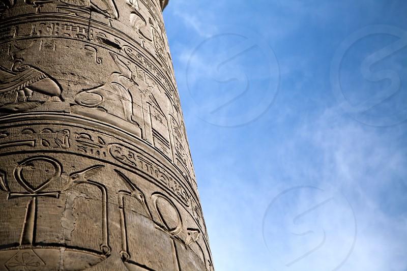 Close up of pillar photo