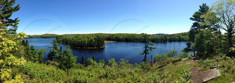 Caribou Lake shot from the Superior Hiking Trail in Minnesota photo
