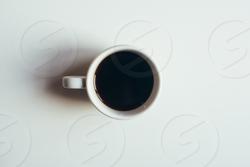 Black coffee mug cup cafe home clean white specialty coffee photo
