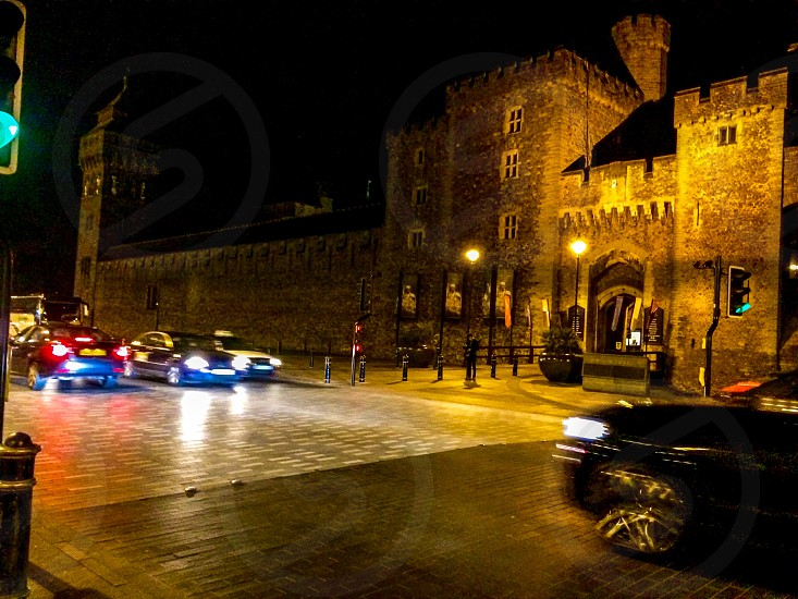 Cardiff castle by night photo